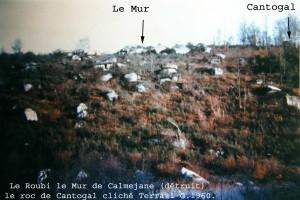 Rive gauche de l'Aiguebelle, Le Roubi intact, ClichéTerrail G. 1960.