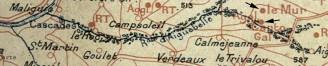 Carte Nauzière et Grillou 1907.